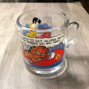 McDonald's 1978 Garfield Collectible Glass Mug